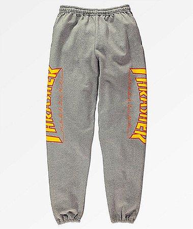 """THRASHER - Calça Flame Logo """"Grey"""""""