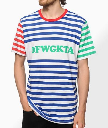 "ODD Future - Camiseta OFWGKTA Striped ""White"""