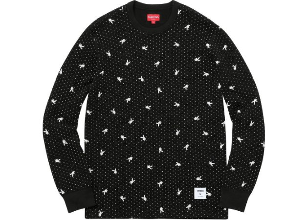 "SUPREME - Camiseta Thermal Playboy + Calça Thermal Playboy ""Black"""