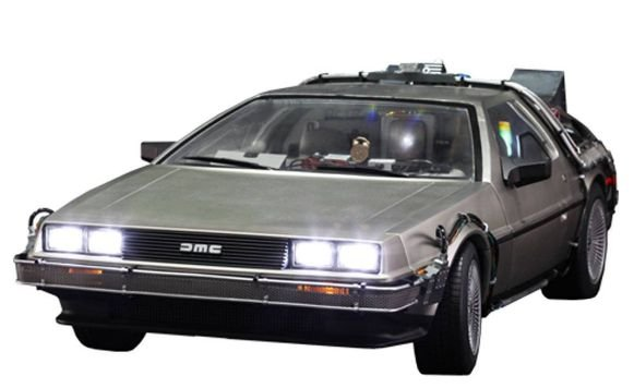 ENCOMENDA  - Hot Toys - Back To The Future II DeLorean DMC-12 1/6 (SILVER)
