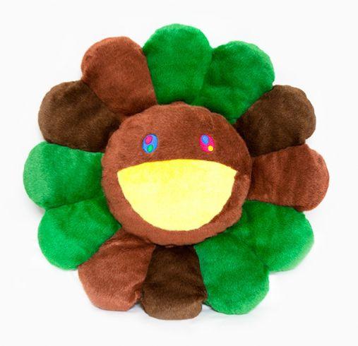 "ENCOMENDA - KAIKAI KIKI - Pelúcia Murakami Flower Cushion - 60CM ""Green & Brown"""
