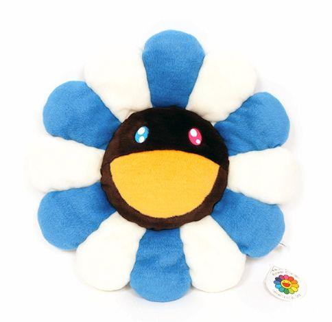 "ENCOMENDA - KAIKAI KIKI - Pelúcia Murakami Flower Cushion - 60CM ""Blue & White"""