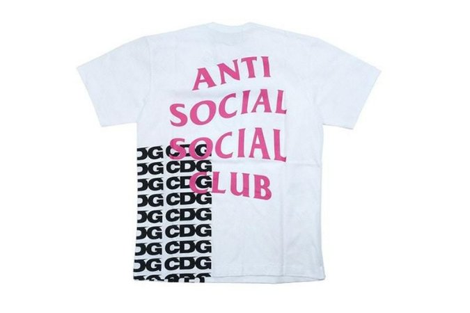 "Anti Social Social Club x Commes des Garçons - Camiseta Over All Script ""White"""