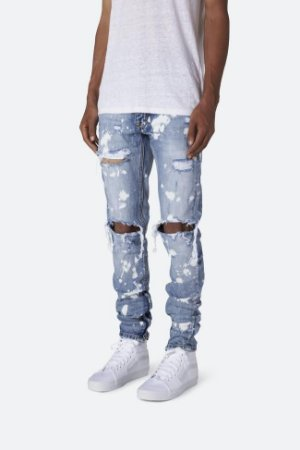 "mnml - Calça M1 Splash Denim ""Blue"""