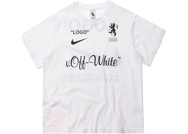 """ENCOMENDA - Nikelab x OFF-WHITE - Camiseta Mercurial NRG X FB """"White"""""""