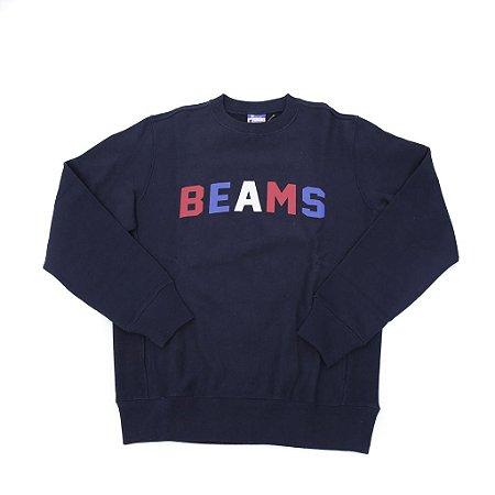 """Champion x Beams - Moletom Beams logo """"Navy"""""""