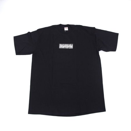 "SUPREME - Camiseta Box Logo Snakeskin ""Black"""