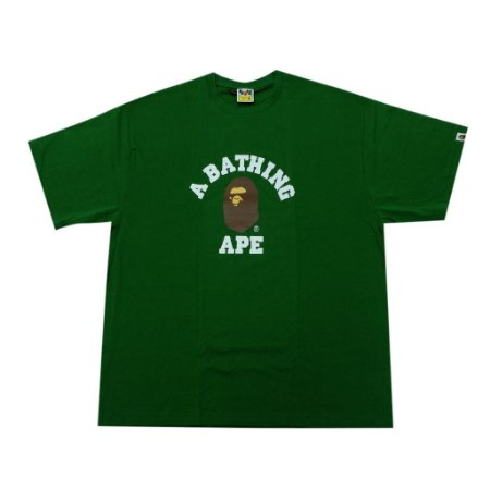 "BAPE - Camiseta College ""Green"""
