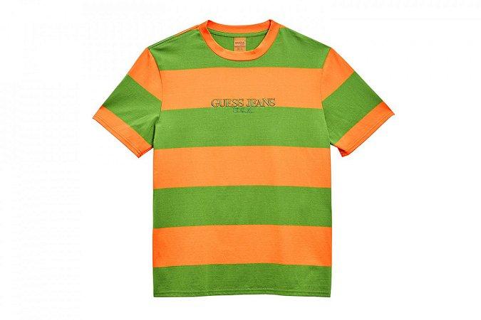 """GUESS x Sean Wotherspoon - Camiseta Stripe """"Orange"""""""