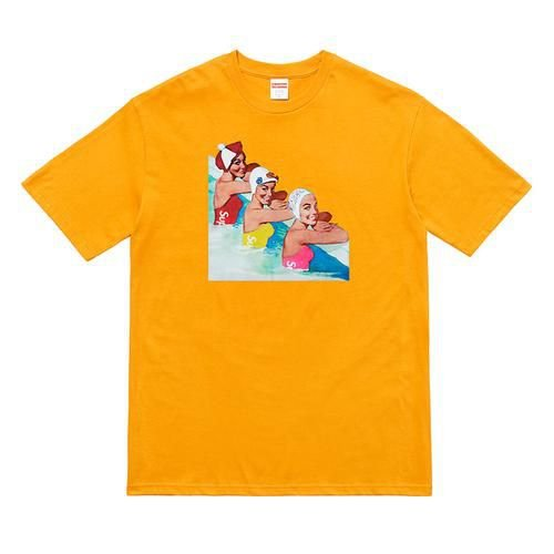 "ENCOMENDA - SUPREME - Camiseta Swimmers ""Orange"""