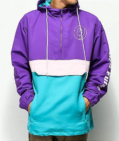 "ODD Future - Jaqueta Colorblock Anorak ""Purple/Teal/Pink"""