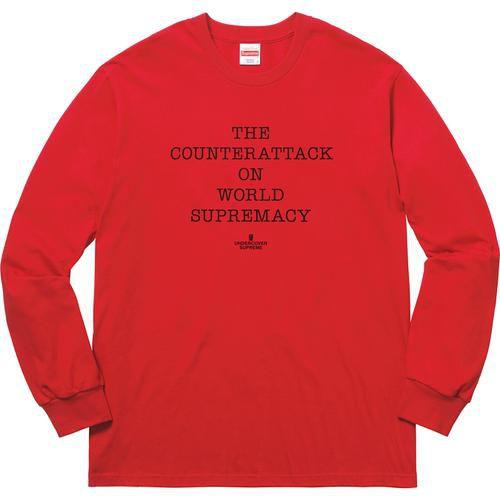 "Supreme x UNDERCOVER x Public Enemy - Camiseta Manga Longa Counterattack ""Red"""