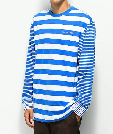 "ODD Future - Camiseta Multi Stripe ""Blue/White"""