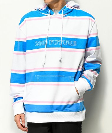 "ODD Future - Moletom Striped ""White/Blue/Pink"""