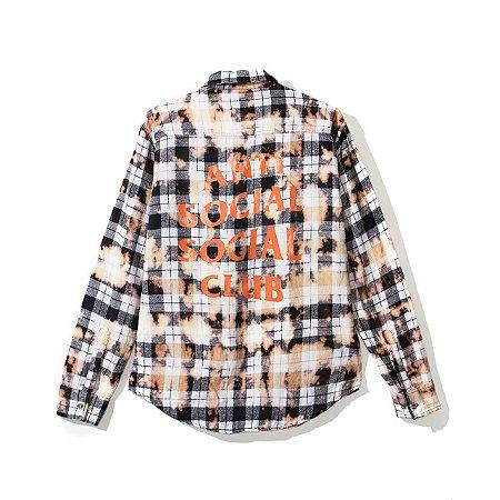"ANTI SOCIAL SOCIAL CLUB  - Camisa Flannel PSY ""White"""