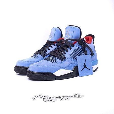 "Nike Jordan 4 Retro x Travis Scott Cactus Jack ""Blue"""