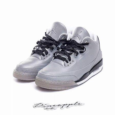 "Nike Air Jordan 3 Retro 5Lab3 ""Silver"" -NOVO-"