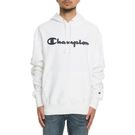 "CHAMPION - Moletom Script Reverse Weave ""White"""