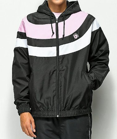 "ODD Future - Jaqueta Arc Stripe ""Black/Pink/White"""