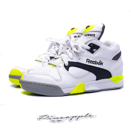 "Reebok Court Victory Pump ""White/Black/Solar Yellow"""