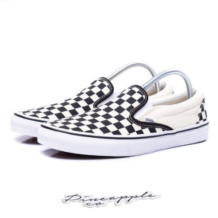 "Vans Slip On Checkerboard ""White/Black"""