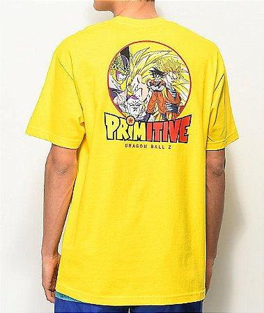 "Primitive x Dragon Ball Z - Camiseta Circle ""Yellow"""
