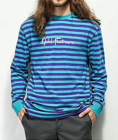"""ODD Future - Camiseta Stripe """"Purple/Teal"""""""