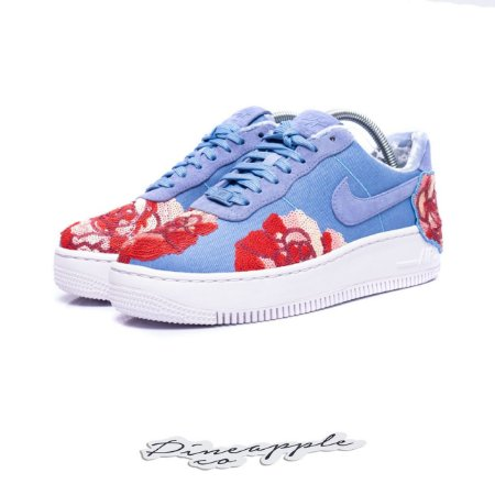 "Nike Air Force 1 Low Upstep Floral Sequin Pack ""Denim Rose Sky"""