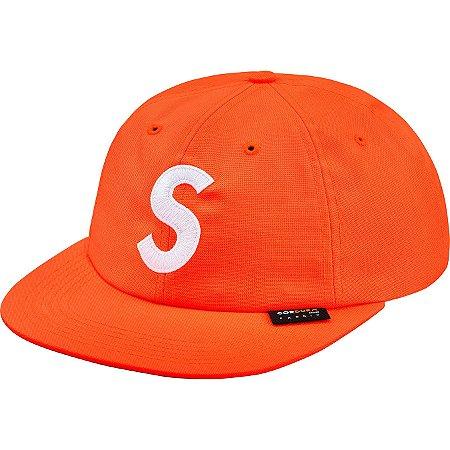 """SUPREME - Boné S Logo Cordura 6-Panel """"Neon Orange"""""""