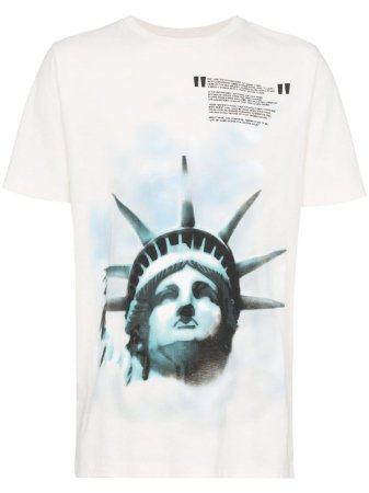 "OFF-WHITE - Camiseta Liberty ""White"""