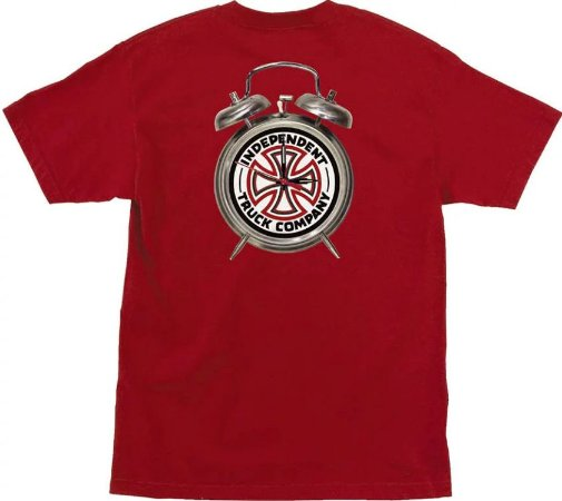 """Thrasher x Independent - Camiseta Time To Go """"Red"""""""