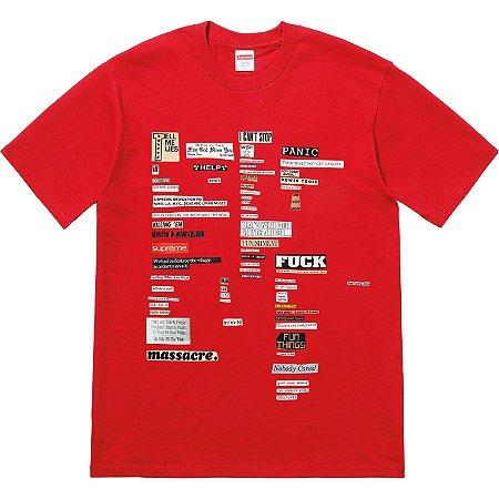 "SUPREME - Camiseta Cutouts ""Red"""