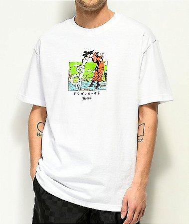 """Primitive x Dragon Ball Z - Camiseta Goku & Frieza """"White"""""""