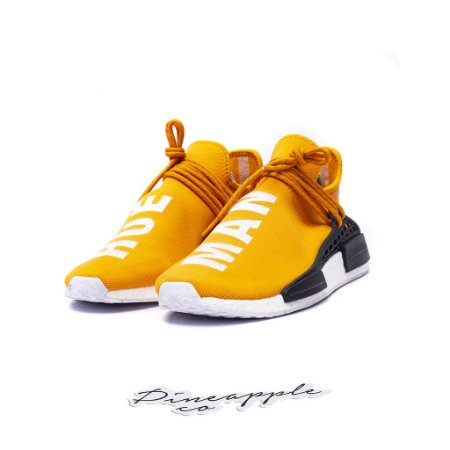 "ADIDAS x PHARRELL - NMD Human Race ""Orange"" -USADO-"