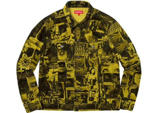 "SUPREME - Jaqueta Vibrations Corduroy Trucker ""Yellow"""