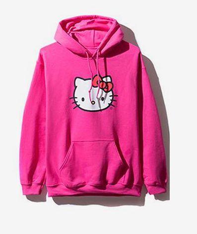 """Anti Social Social Club - Moletom Hello Kitty """"Pink"""""""