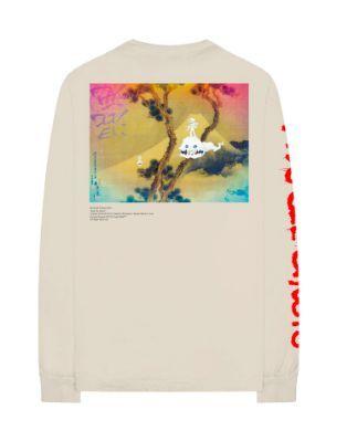 Kanye West x Kid Cudi - Camiseta Manga Longa Kids See Ghosts