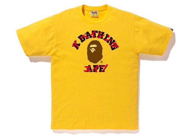 "BAPE - Camiseta Katakana College ""Mustard"""