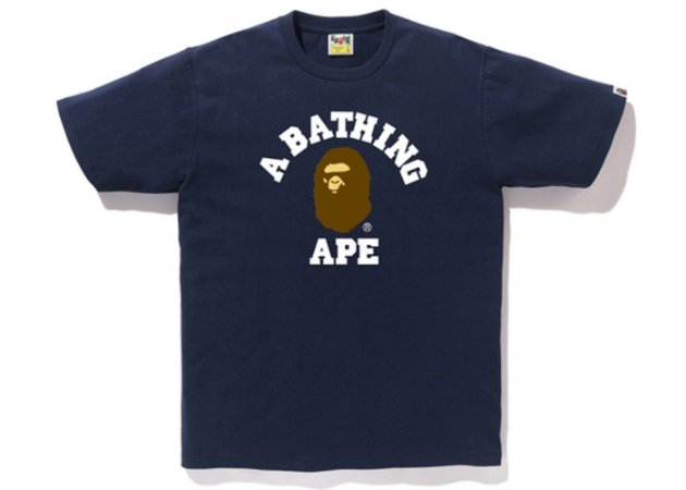 "BAPE - Camiseta College ""Navy"""