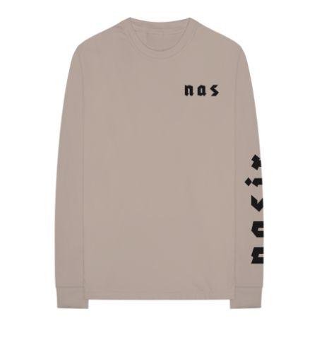"""Nas - Camiseta Eye Manga Longa """"Grey"""""""