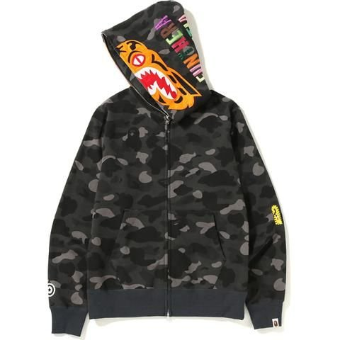 "BAPE - Moletom Color Camo Tiger Full Zip ""Black"""
