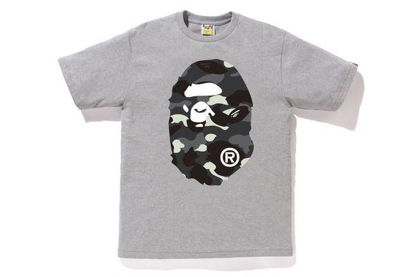 """BAPE - Camiseta City Camo Big Ape Head """"Grey"""""""