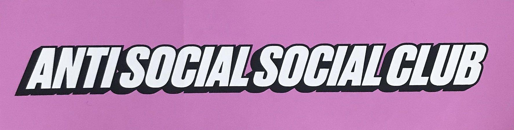 "ANTI SOCIAL SOCIAL CLUB - Adesivo Logo ""Pink"""