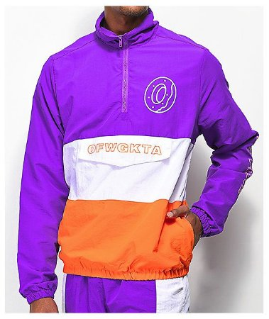 "ODD Future - Jaqueta Colorblock Anorak ""Purple/Orange"""