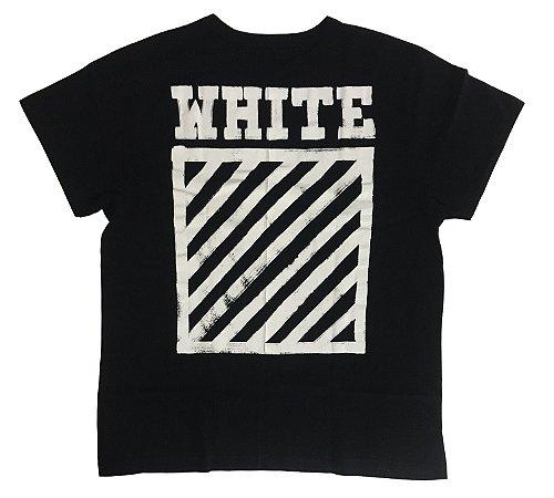 """OFF-WHITE - Camiseta Diagonal Stripe """"Black"""""""