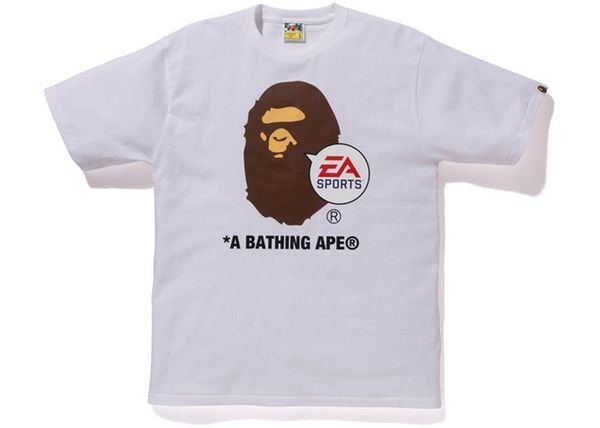 "Bape x EA Sports - Camiseta Big Ape Head ""White"""