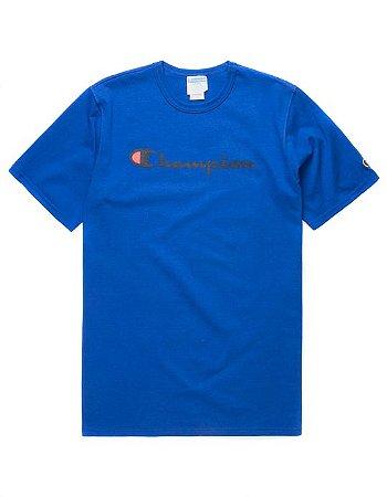 "CHAMPION - Camiseta Script Logo ""Royal/Black"""