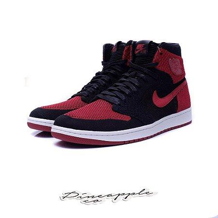 "Nike Air Jordan 1 Retro Flyknit ""Bred"" -NOVO-"