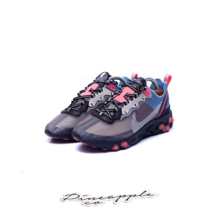"""Nike React Element 87 """"Blue Chill/Solar Red"""""""