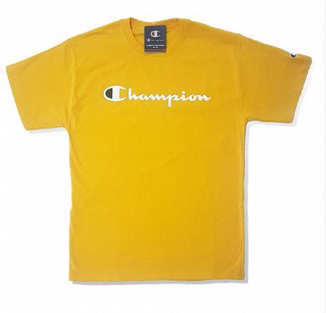 """CHAMPION - Camiseta White Script """"Yellow"""""""